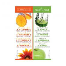 Дуо-микс: Портокал Витамин Ц & Краставица-Јаболка FACE FOOD