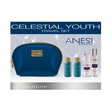 CELESTIAL YOUTH сет за патување (стимулатор + крема од метеор + лосион + пена) ANESI